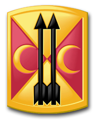 "Army 212th Field Artillery Brigade 10"" Patch Decal"