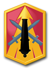 "Army 214th Field Artillery Brigade 10"" Patch Decal"
