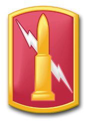 """Army 224th Field Artillery Brigade 5.5"""" Patch Decal"""