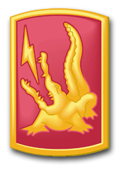 "Army 227th Field Artillery Brigade 11.75"" Patch Decal"