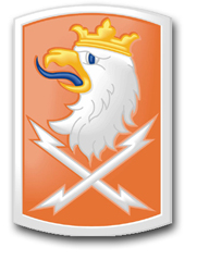 """Army 22nd Signal Brigade 8"""" Patch Decal"""