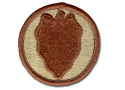 Army 24th Infantry Division Desert Military Patch