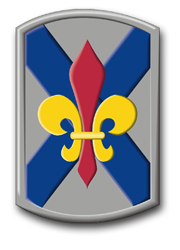 """Army 256th Infantry Brigade Louisiana 8"""" Patch Vinyl Transfer Decal"""