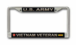 Army 25th Infantry Division Vietnam Veteran License Plate Frame
