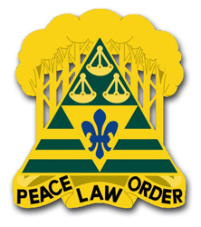 """Army 260th Military Police Brigade District of Columbia Unit Crest 11.75"""" Vinyl Transfer Decal"""