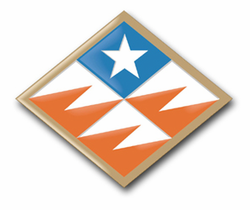 """Army 261st Signal Command Delaware 3.8"""" Patch Vinyl Transfer Decal"""