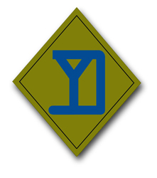 "Army 26th Infantry Brigade 10"" Patch Decal"