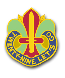 Army 29th Division Unit Crest  Vinyl Transfer Decal