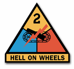 """Army 2nd Armored 8"""" Patch Vinyl Transfer Decal"""