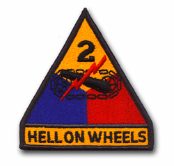 Army 2nd Armored Military Patch