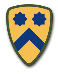 """Army 2nd Cavalry WWII 10"""" Patch Vinyl Transfer Decal"""