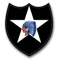 "Army 2nd Infantry 3.8"" Patch Vinyl Transfer Decal"
