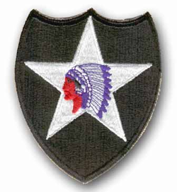 Army 2nd Infantry Division 'Indian Head' (Diecut) Military Patch