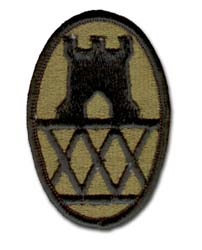 Army 30th Engineering Brigade Subdued Military Patch
