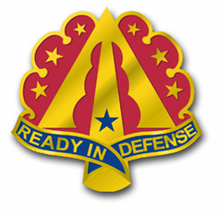 "Army 35th Air Defense Artillery Brigade Unit Crest 8"" Decal"