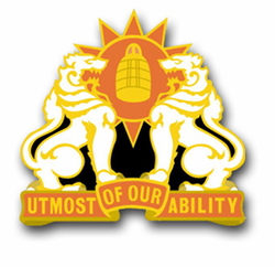 Army 35th Signal Brigade Unit Crest Decal