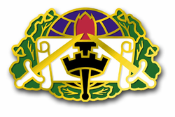 "Army 364th Civil Affairs Brigade Unit Crest 5.5"" Decal"
