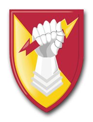 "Army 38th Air Defense Artillery Brigade 10"" Patch Decal"