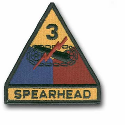 Army 3rd Armored Spearhead Military Patch
