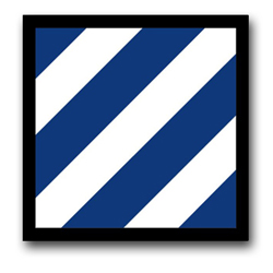 "Army 3rd Infantry 3.8"" Patch Vinyl Transfer Decal"