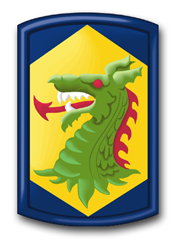 """Army 404th Chemical Brigade 10"""" Patch Decal"""