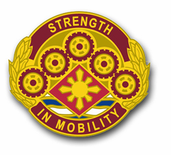 "Army 425th Transport Brigade Unit Crest 3.8"" Vinyl Transfer Decal"