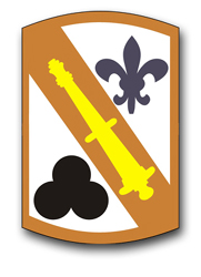 """Army 42nd Field Artillery Brigade 10"""" Patch Decal"""