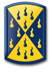 "Army 464th Chemical Brigade 10"" Patch Decal"