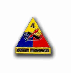 Army 4th Armored Division Military Lapel Pin