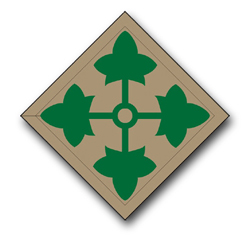 """Army 4th Infantry 10"""" Patch Vinyl Transfer Decal"""