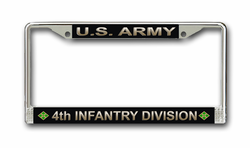 Army 4th Infantry Division License Plate Frame