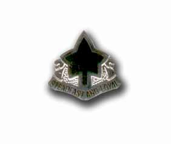 Army 4th Infantry Division Silver Military Pin