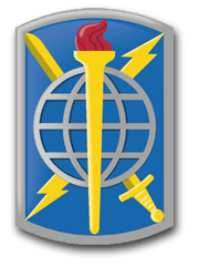 "Army 500th Military Intelligence Brigade 10"" Patch Vinyl Transfer Decal"