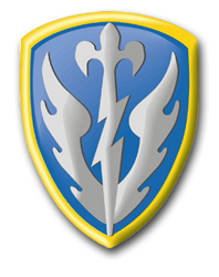 """Army 504th Military Intelligence Brigade 11.75"""" Patch Vinyl Transfer Decal"""