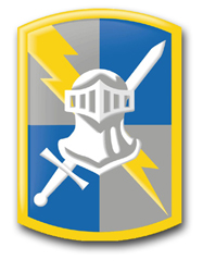 """Army 513th Military Intelligence Brigade 10"""" Patch Vinyl Transfer Decal"""