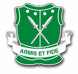 "Army 5th Armored Unit Crest 3.8"" Vinyl Transfer Decal"