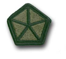 Army 5th Corps Subdued Military Patch