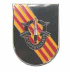 Army 5th Special Forces Flash w/Crest Military Lapel Pin