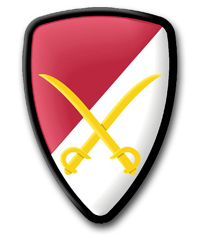 """Army 6th Cavalry Brigade 3.8"""" Patch Decal"""