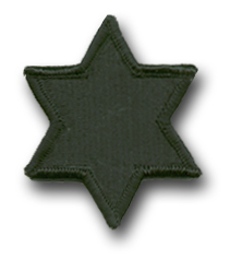 Army 6th Infantry Division Subdued Military Patch