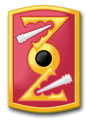 "Army 72nd Field Artillery Brigade 5.5"" Patch Decal"