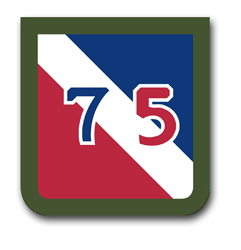 Army 75th Division Patch  Vinyl Transfer Decal