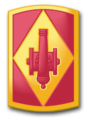 "Army 75th Field Artillery Brigade 10"" Patch Decal"