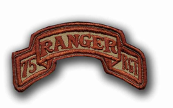 Army 75th Ranger Infantry Desert Military Patch