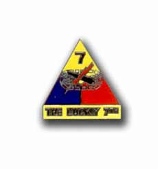 Army 7th Armored Division The Lucky 7th Military Pin