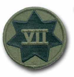 Army 7th Corps Subdued Military Patch