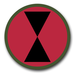 """Army 7th Infantry 3.8"""" Patch Vinyl Transfer Decal"""