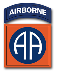 "Army 82nd Airborne 3.8"" Patch Vinyl Transfer Decal"
