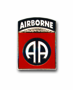 Army 82nd Airborne 'AA' Military Lapel Pin