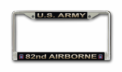 Army 82nd Airborne License Plate Frame